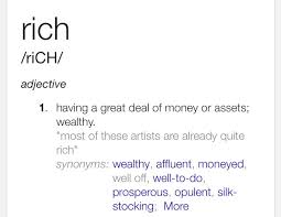 Synonyms Of Opulent Rappers Said On Twitter