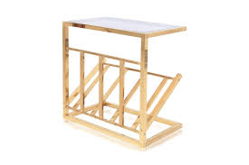 Brass Side Table Brass Side Table With Magazine Rack