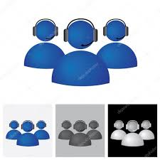 Customer Help Desk Customer Support Or Helpdesk Team With Headphone Vector Icon