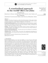 a standardised approach to the world ikea in china