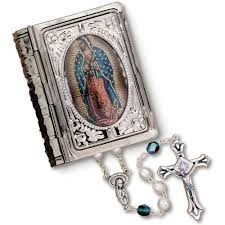 our of guadalupe rosary rosary with our of guadalupe picture box the catholic company