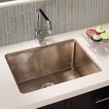 Brushed Nickel Kitchen Sinks Native Trails - Hammered kitchen sink