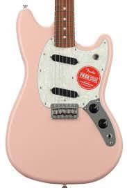 fender mustang guitar fender mustang shell pink with pau ferro fingerboard sweetwater