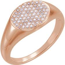 signet wedding ring 14kt gold pave diamond signet ring wedding bands co