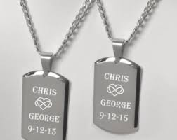 his and hers dog tags his and necklace etsy