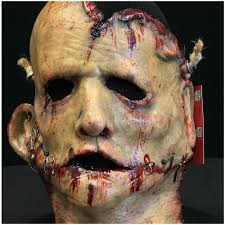 mutilated skin latex mask by blood line designs mad about horror