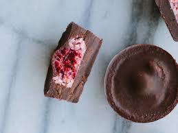 raspberry coconut dark chocolate cups recipe emma galloway