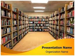 Background Bookshelf Library Bookshelf Powerpoint Template Is One Of The Best