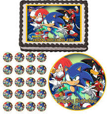 sonic cake topper sonic x rider hedgehog edible cake topper cupcake decoration