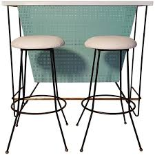 Standing Bar Table Mid Century Modern Free Standing Bar And Stools By Frederick