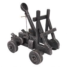 Executive Desk Toy Collectible Detailed Foundry Iron Desk Toy Catapult Moving Parts