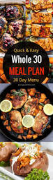 complete whole 30 meal plan paleo menu plan paleo shopping list
