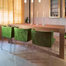 kartell mademoiselle modern fabric dining chair