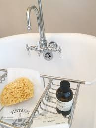 Clawfoot Bathtub Caddy Vintage Refined Bathroom Makeover Reveal