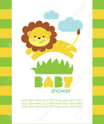 lion baby shower baby shower design vector illustration royalty free cliparts