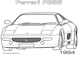 1994 ferrari f355 coloring free printable coloring pages