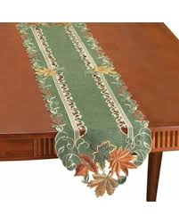 autumn harvest table linens slash prices on autumn harvest leaf table linens runner