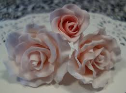 how to make fondant roses for cakes youtube
