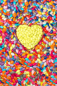 sweetheart candy colorful and yellow hearts background sweetheart candy