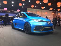 renault twizy blue renault zoe e sport hyper hatch is revealed at geneva sporting