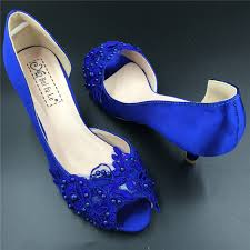 wedding shoes royal blue low heels royalblue peep toe wedding shoes women bridal open toe