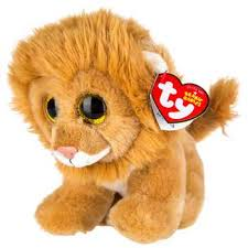 ty louie lion beanie boo small granville island toy company