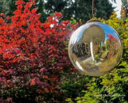 Garden Sphere Balls Glass Gazing Balls Pretty Glass Pinterest Gardens Garden Ball Idea