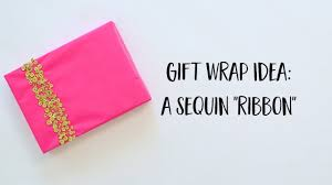 sequin ribbon wrapping paper diy sequin ribbon design tutorial version