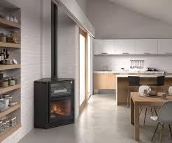 corner wood burning fireplace interior design