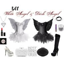 White Angel Halloween Costume Diy White Angel U0026 Dark Angel Polyvore