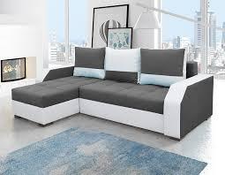 canapé d angle convertible en tissu bicolore player