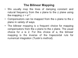 bilinear map digital the s plane root locus design technique