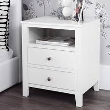 White Bedside Table Furniture White Chest Of Drawers Bedside Tables