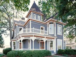 victorian house color schemes exterior blue victorian style house