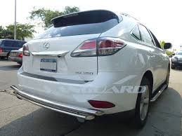 t 304 16 17 lexus rx350 rx450h rear bumper protector guard double