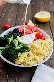 Pasta Salad Mayo by Pasta U0026 Broccoli Salad With Creamy Lemon Dressing Gimme Delicious