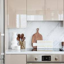 lacquered glass kitchen cabinets taupe lacquered kitchen cabinets design ideas