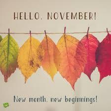 hello november hello november november and autumn