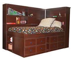 twin captains bed with bookcase headboard bedroom queen captains bed with bookcase headboard captains bed