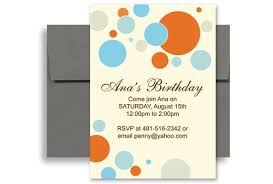 birthday invitation word template birthday party invitation
