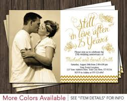 25th wedding anniversary invitations anniversary invites etsy