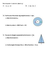 literal equations notes and worksheet solving for a specific