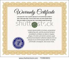 green warranty template lovely design linear stock vector