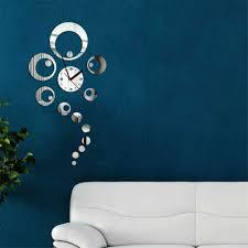 new style modern decoration acyrlic mirror living room wall clock