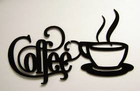 Coffee Wall Decor For Kitchen 14 X 7 Bistro Coffee Sign With Mug Metal Wall