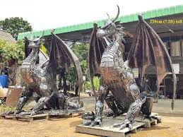 statues lifesize from scrap metal thailand