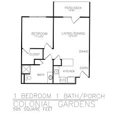 Colonial Plans Personal Care Floor Plans