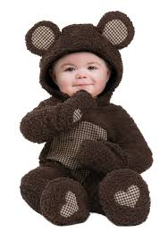 this cozy baby brown bear costume for infants features a furry