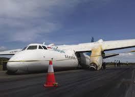 plane crash lands on airport runway passengers injured the star