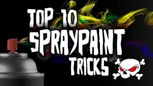 top 10 spray paint tricks hd youtube